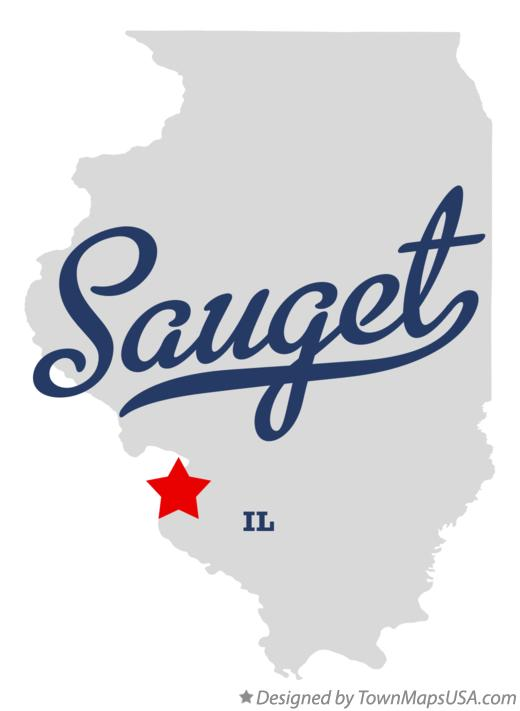 Map of Sauget Illinois IL