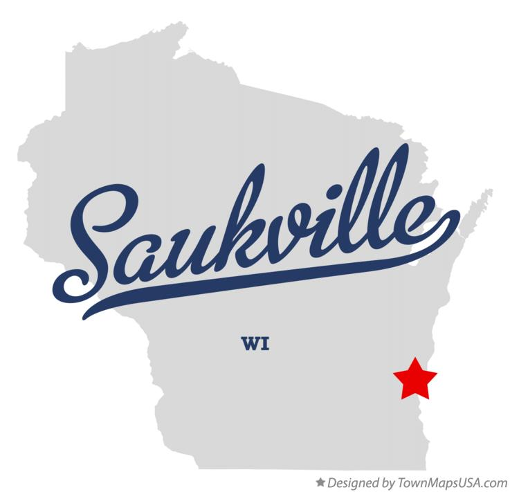 Map of Saukville Wisconsin WI