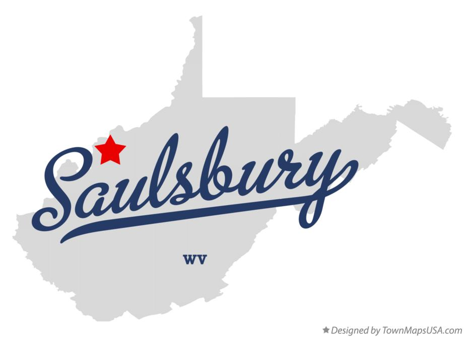Map of Saulsbury West Virginia WV