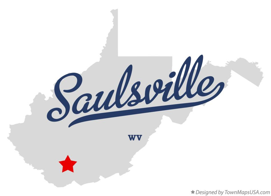 Map of Saulsville West Virginia WV