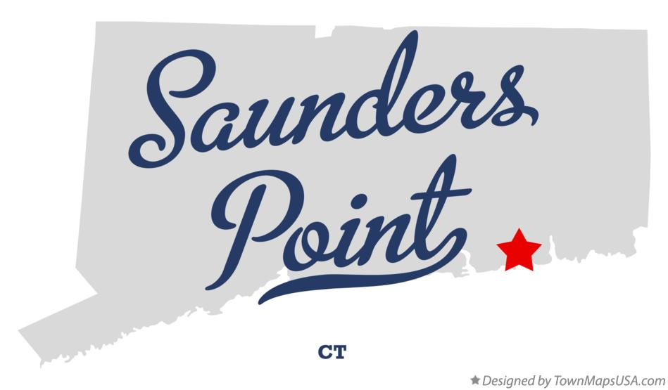 Map of Saunders Point Connecticut CT