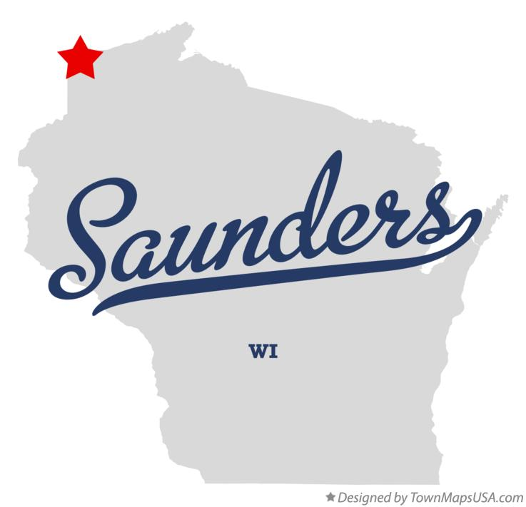 Map of Saunders Wisconsin WI