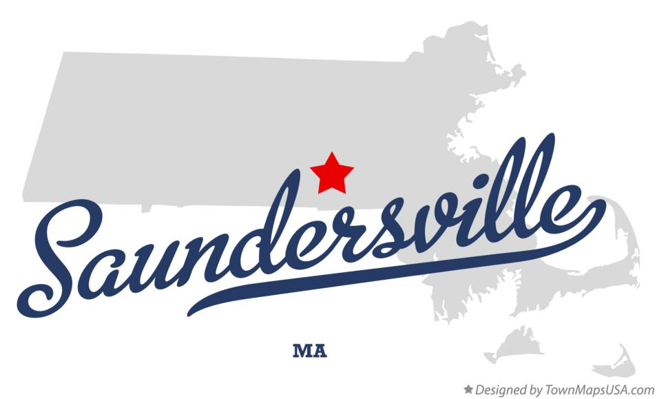Map of Saundersville Massachusetts MA