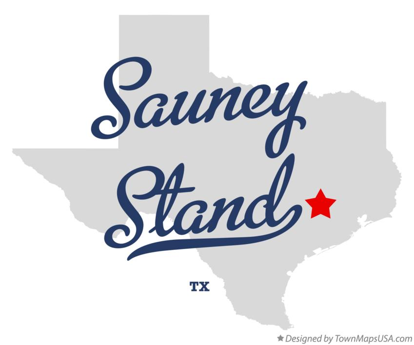 Map of Sauney Stand Texas TX