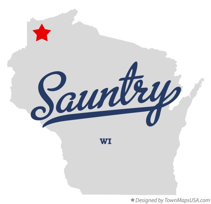 Map of Sauntry Wisconsin WI