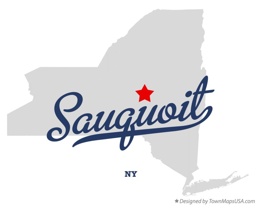 Map of Sauquoit New York NY