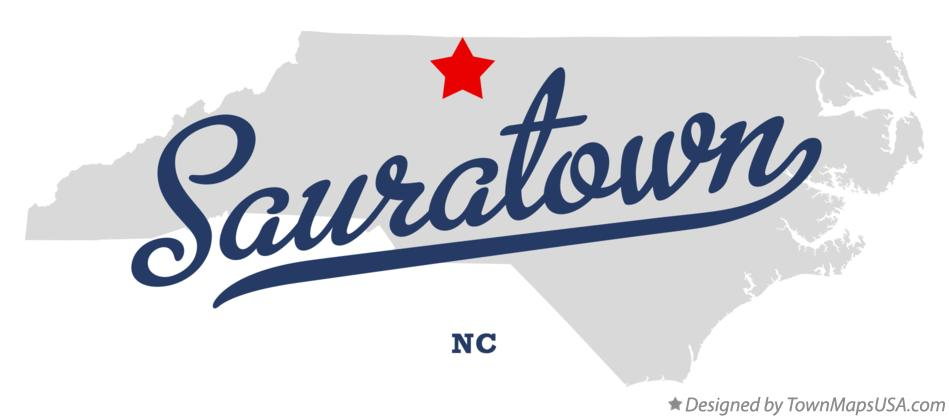 Map of Sauratown North Carolina NC