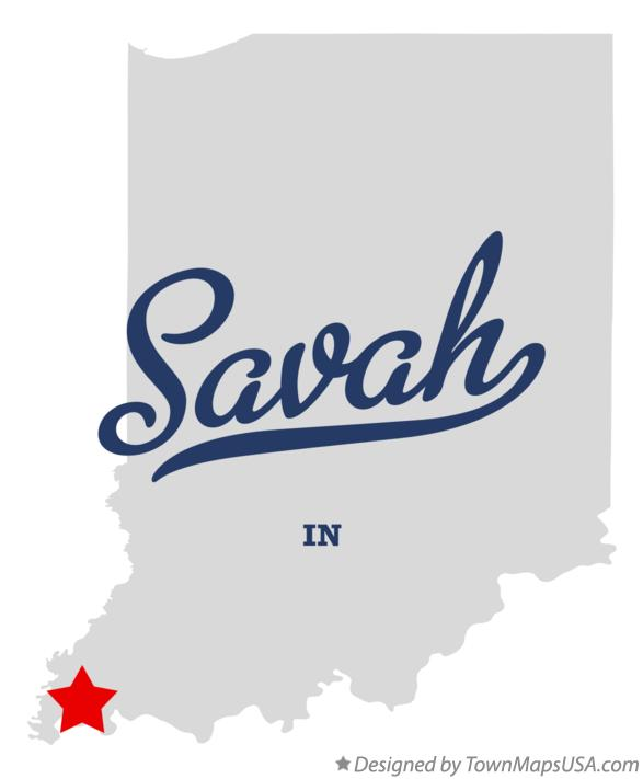 Map of Savah Indiana IN