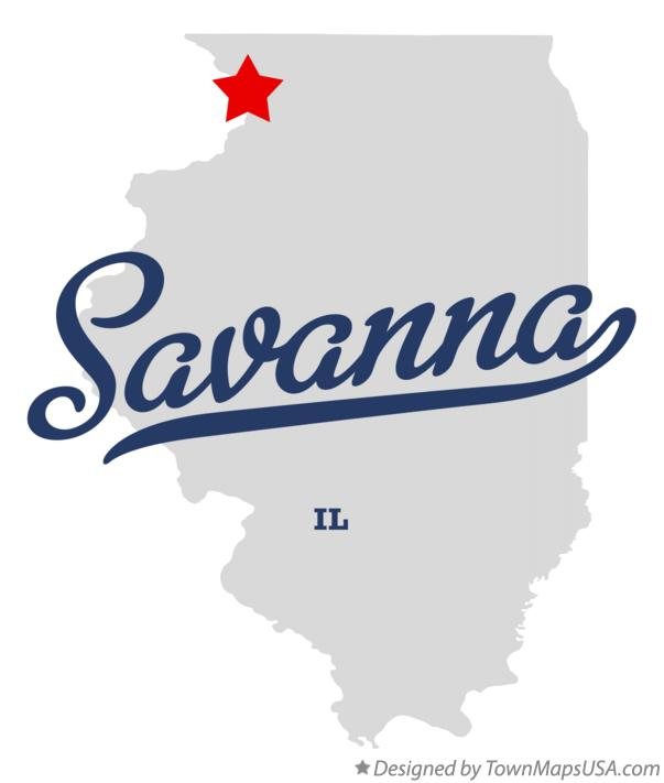 Map of Savanna Illinois IL