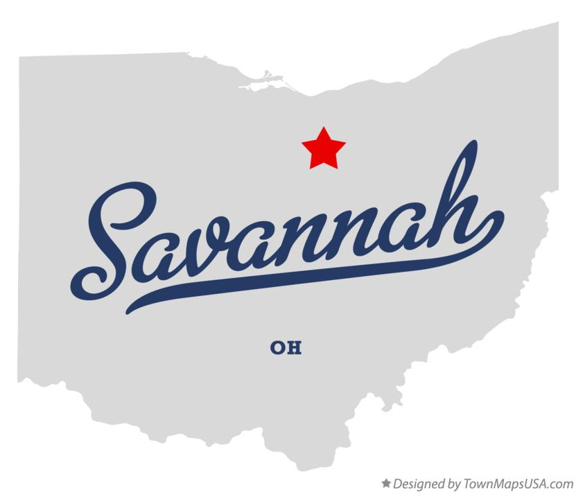 Map of Savannah Ohio OH