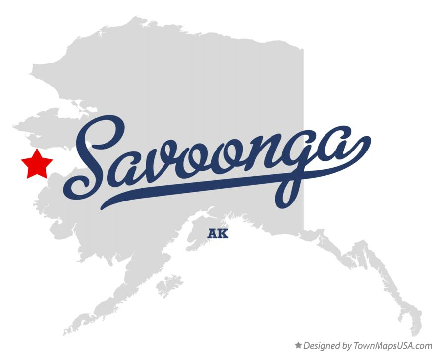 Map of Savoonga Alaska AK