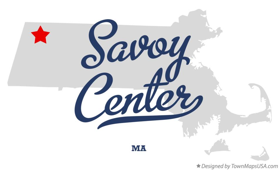 Map of Savoy Center Massachusetts MA