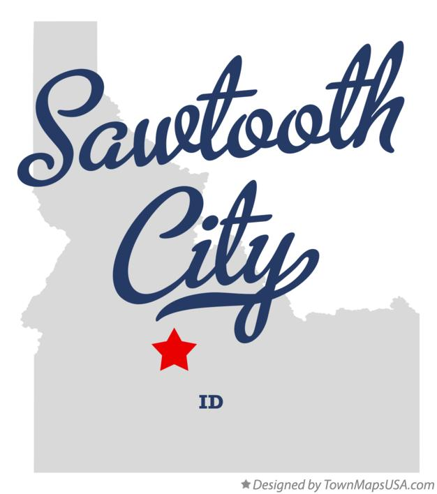 Map of Sawtooth City Idaho ID
