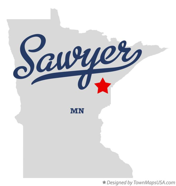 Map of Sawyer Minnesota MN
