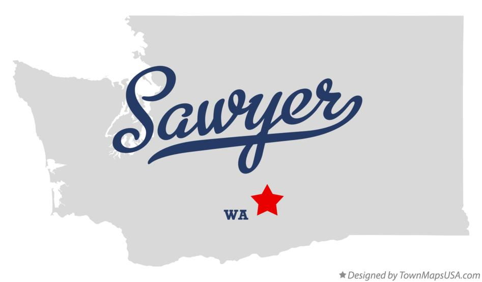 Map of Sawyer Washington WA