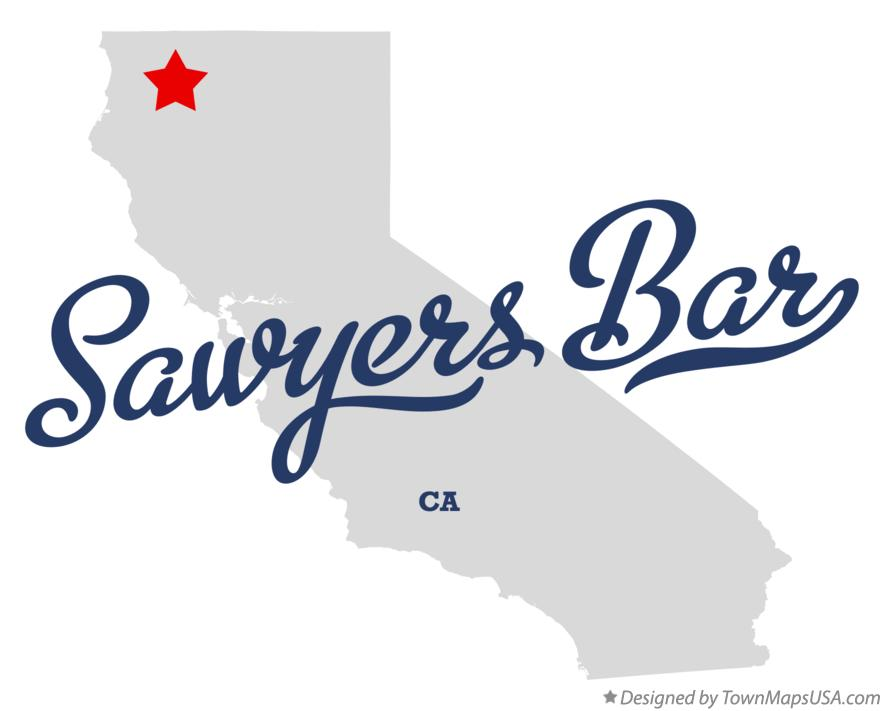 Map of Sawyers Bar California CA