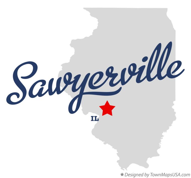Map of Sawyerville Illinois IL