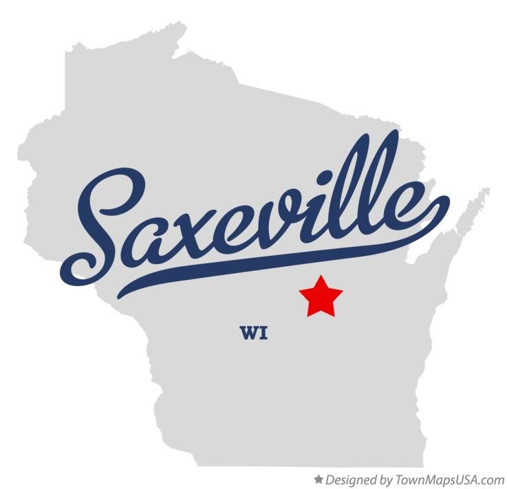 Map of Saxeville Wisconsin WI