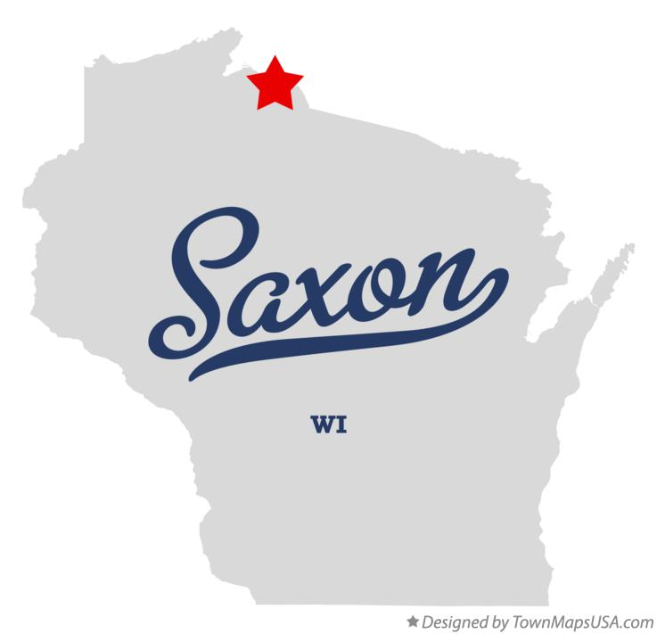 Map of Saxon Wisconsin WI