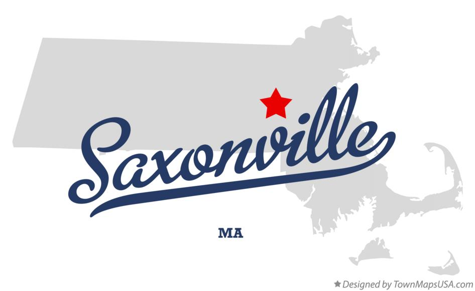 Map of Saxonville Massachusetts MA