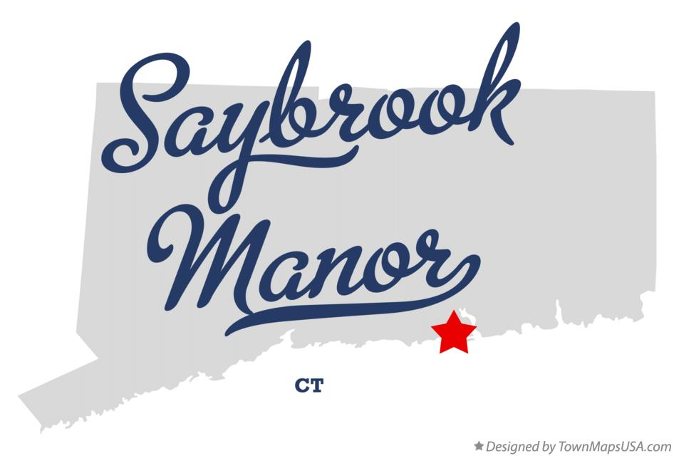 Map of Saybrook Manor Connecticut CT