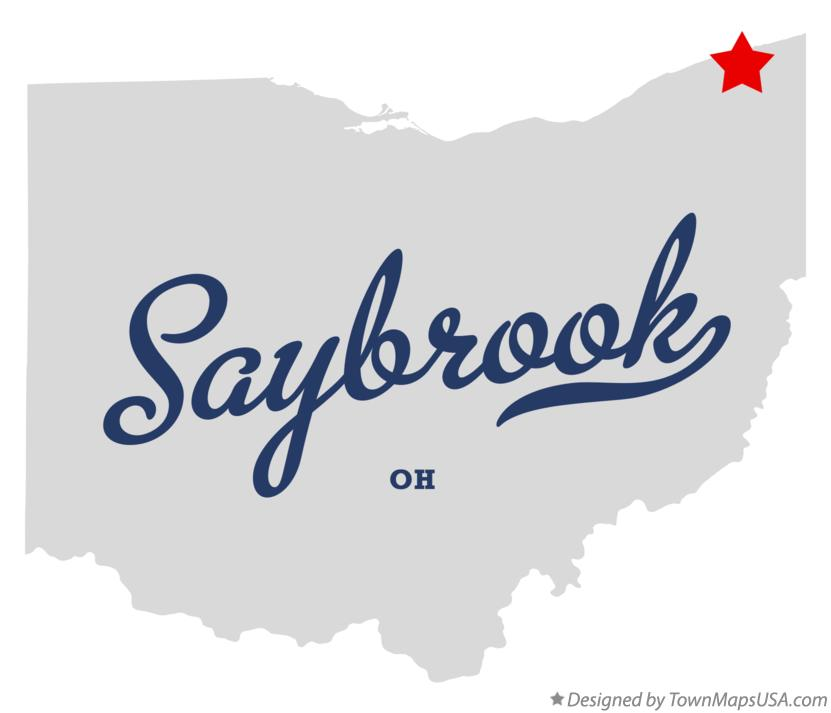 Map of Saybrook Ohio OH