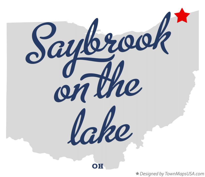 Map of Saybrook-on-the-lake Ohio OH