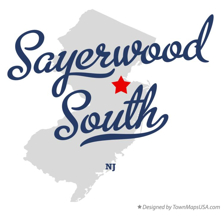 Map of Sayerwood South New Jersey NJ