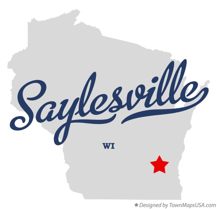 Map of Saylesville Wisconsin WI