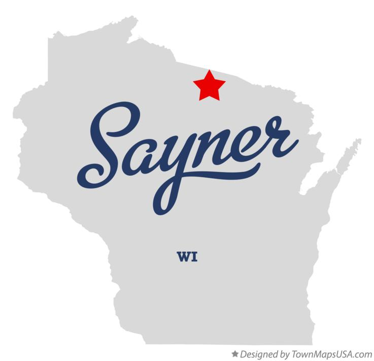 Map of Sayner Wisconsin WI