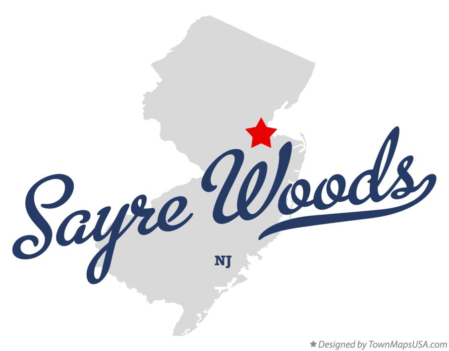 Map of Sayre Woods New Jersey NJ