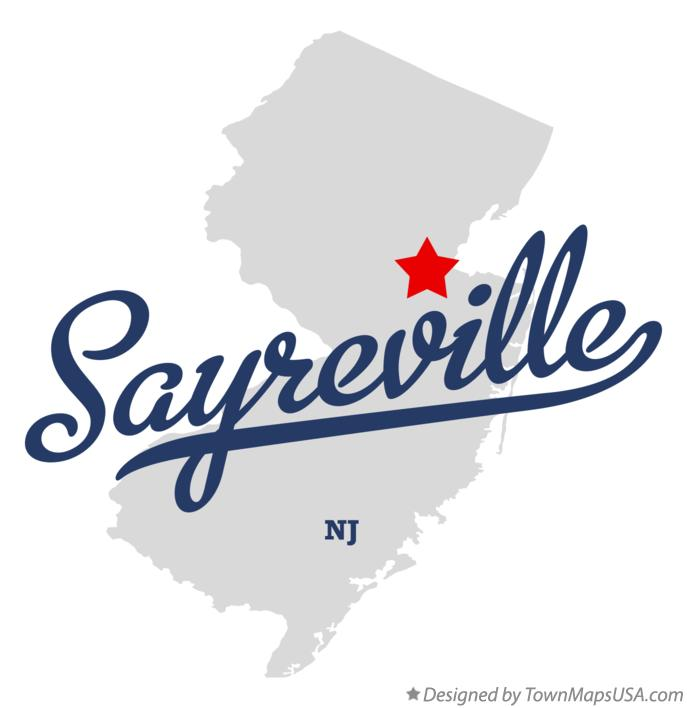 Map of Sayreville New Jersey NJ