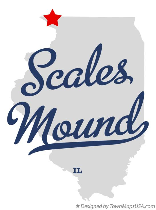 Map of Scales Mound Illinois IL