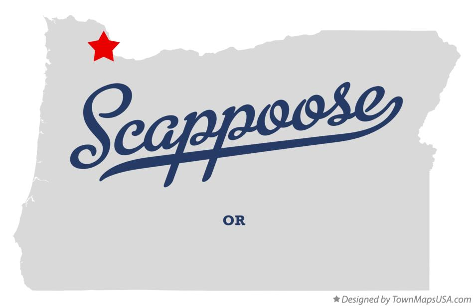 Map of Scappoose Oregon OR