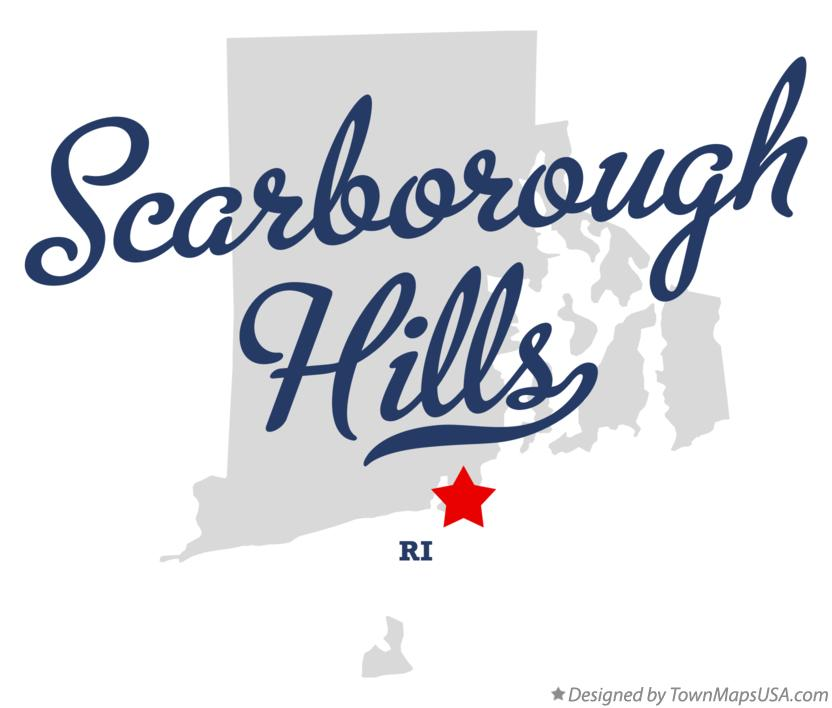 Map of Scarborough Hills Rhode Island RI