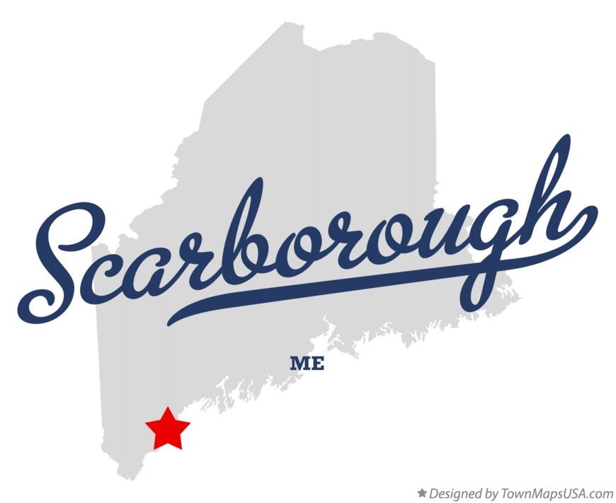 Map of Scarborough, ME, Maine