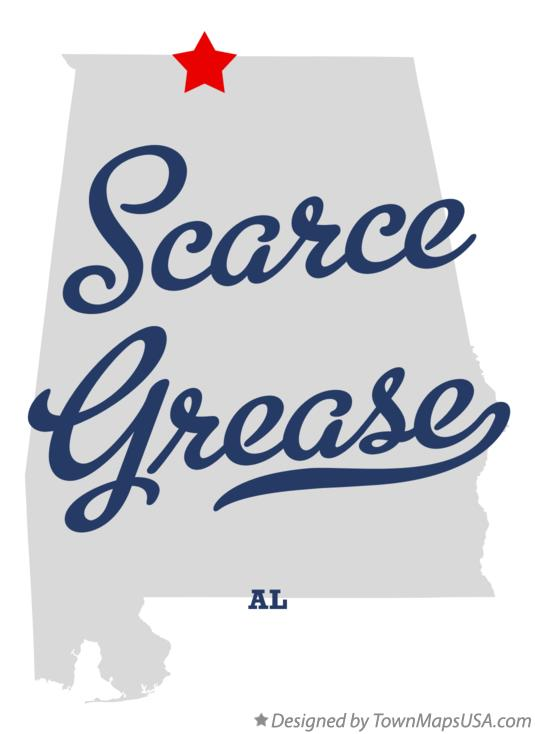 Map of Scarce Grease Alabama AL