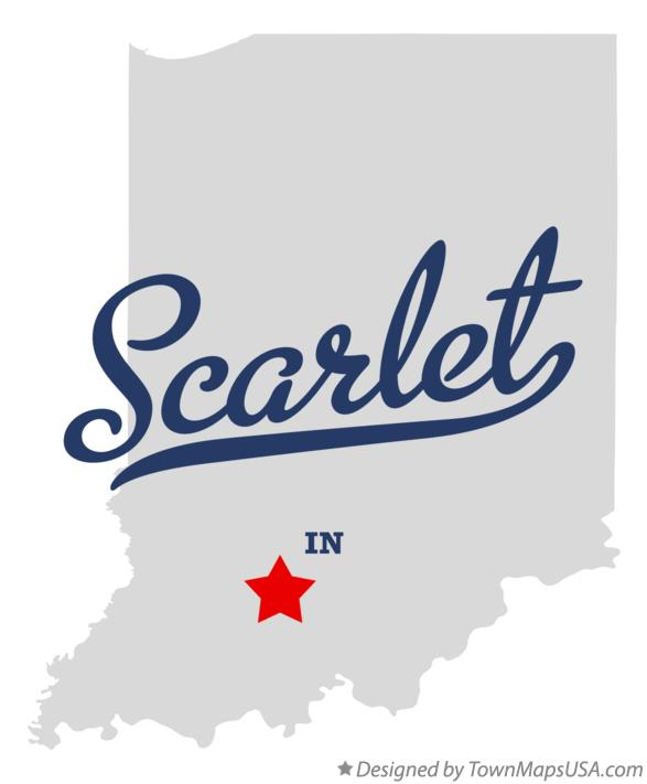 Map of Scarlet Indiana IN