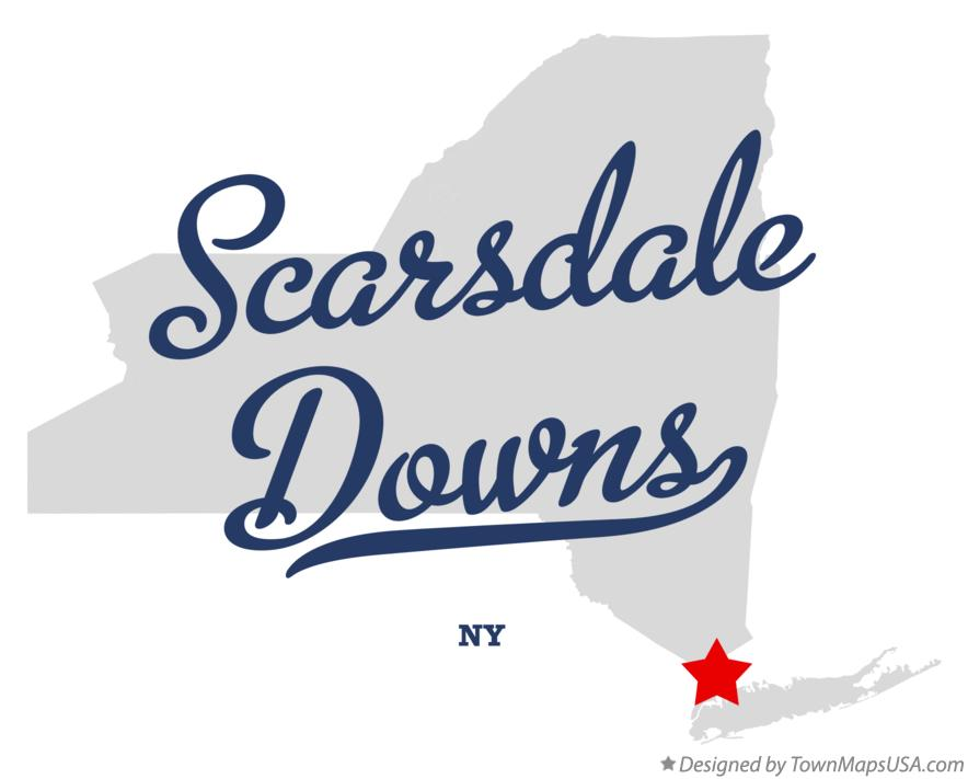 Map of Scarsdale Downs New York NY