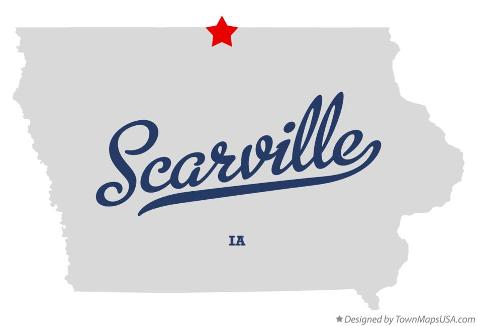 Map of Scarville Iowa IA