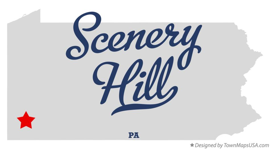 Map of Scenery Hill Pennsylvania PA