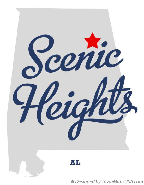 Map of Scenic Heights Alabama AL