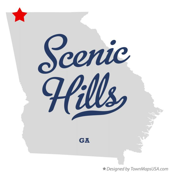 Map of Scenic Hills Georgia GA