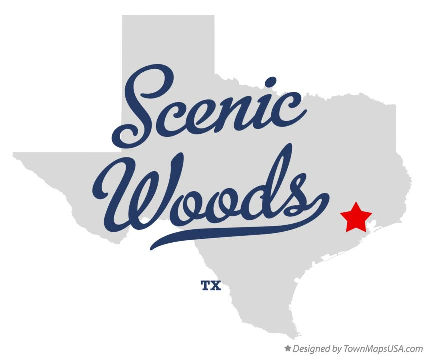 Map of Scenic Woods Texas TX