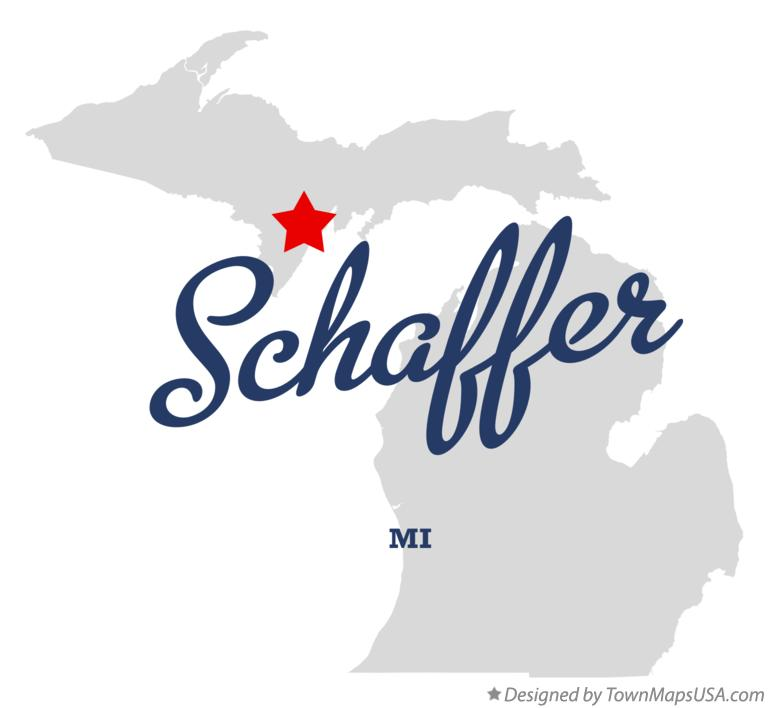 Map of Schaffer Michigan MI
