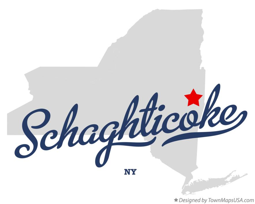 Map of Schaghticoke New York NY