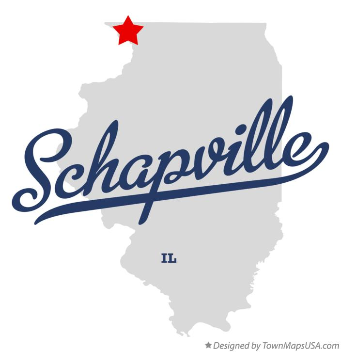 Map of Schapville Illinois IL