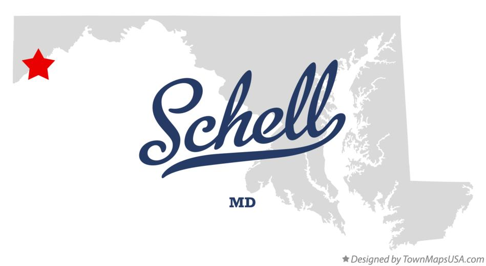Map of Schell Maryland MD