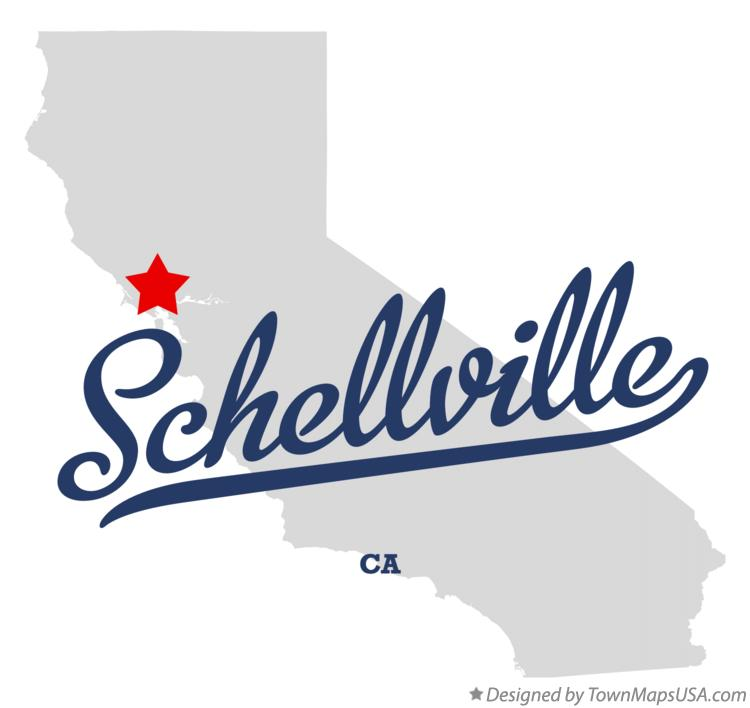 Map of Schellville California CA