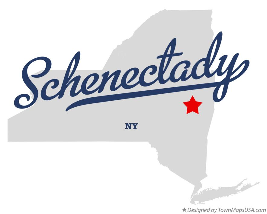 Map of Schenectady New York NY